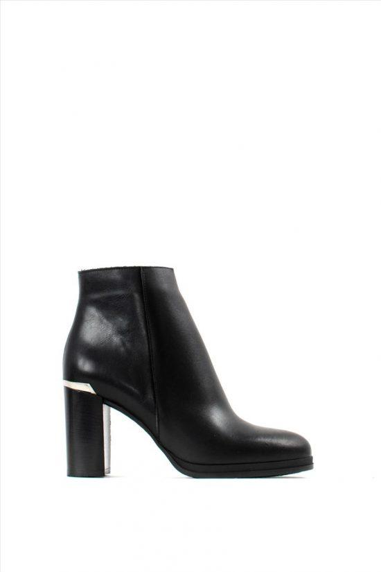 Γυναικεία Δερμάτινα Ankle Boots SANTE 19-545 BLACK