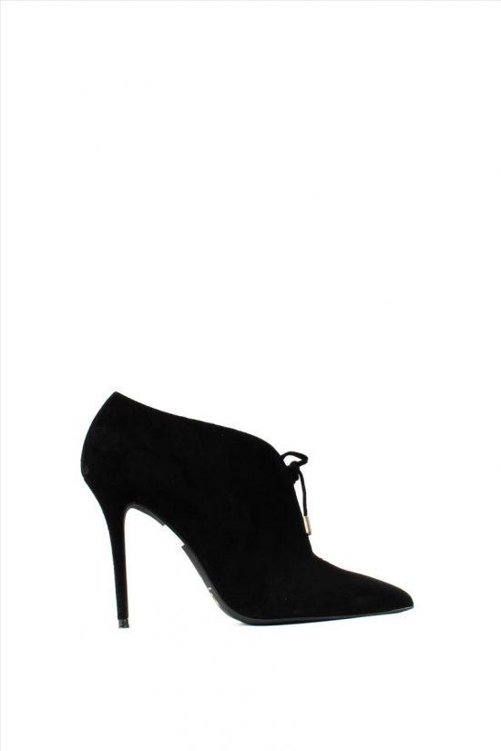 Γυναικεία Suede Ankle Boots MOURTZI 10/1014M06 BLACK
