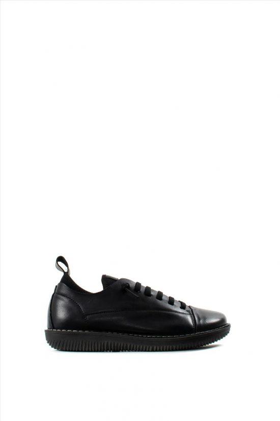Γυναικεία Δερμάτινα Casual Shoes CHACAL 4817 BLACK