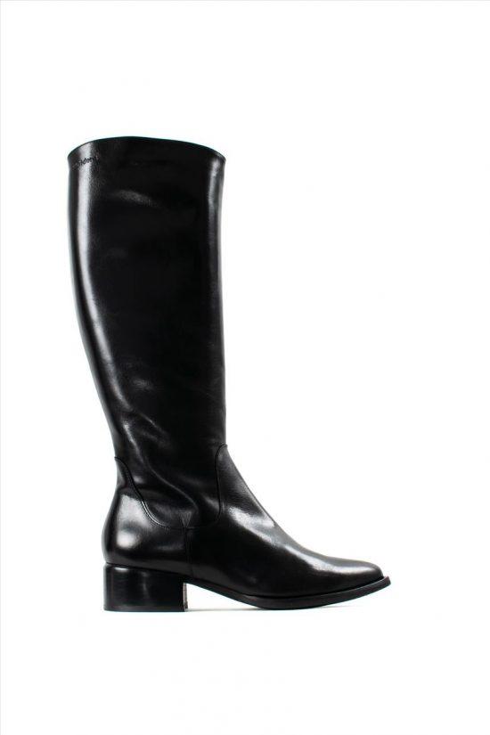 Γυναικείες Δερμάτινες Μπότες WONDERS D-8703 BLACK