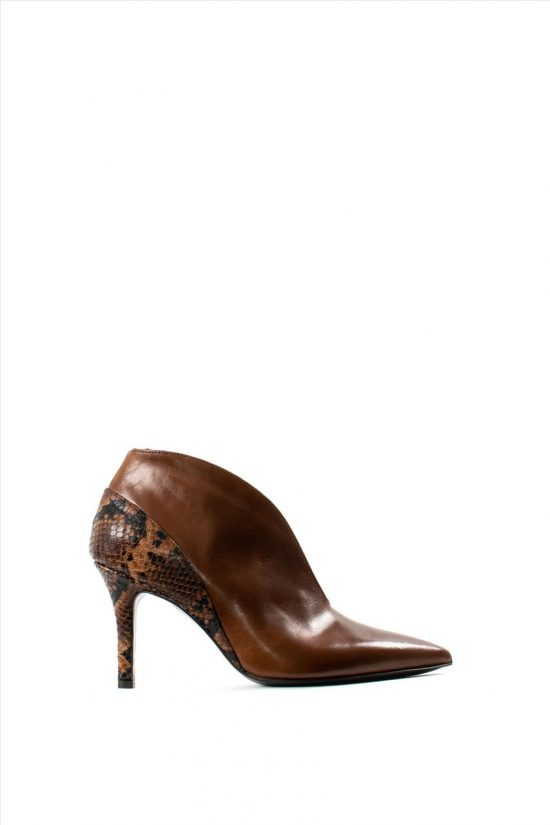 Γυναικεία Δερμάτινα Ankle Boots PAOLA FERRI D7071 ICE/ DIAMANTE CASTAGNO/TEXAS