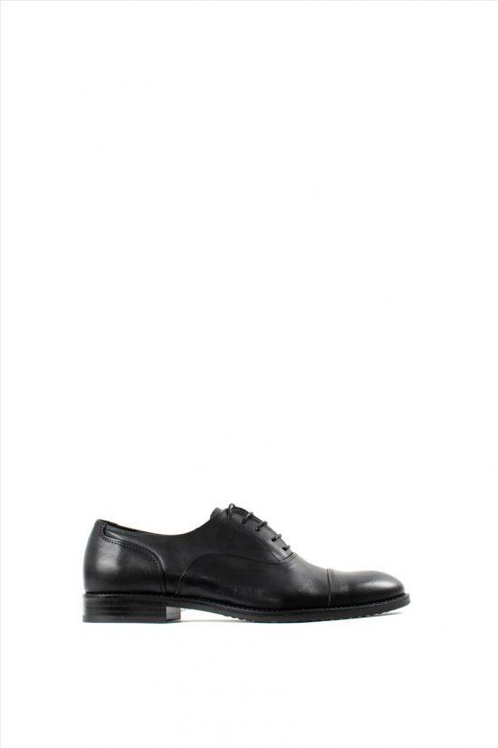 Ανδρικά Δερμάτινα Δετά Παπούτσια ZAKRO COLLECTION 1396 BLACK