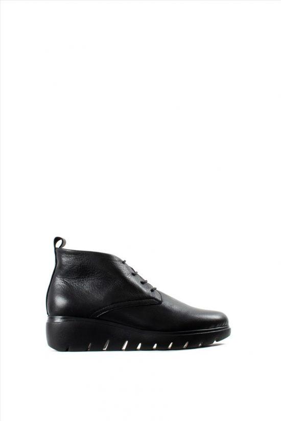 Γυναικεία Δερμάτινα Casual Shoes BRYAN 35512 BLACK