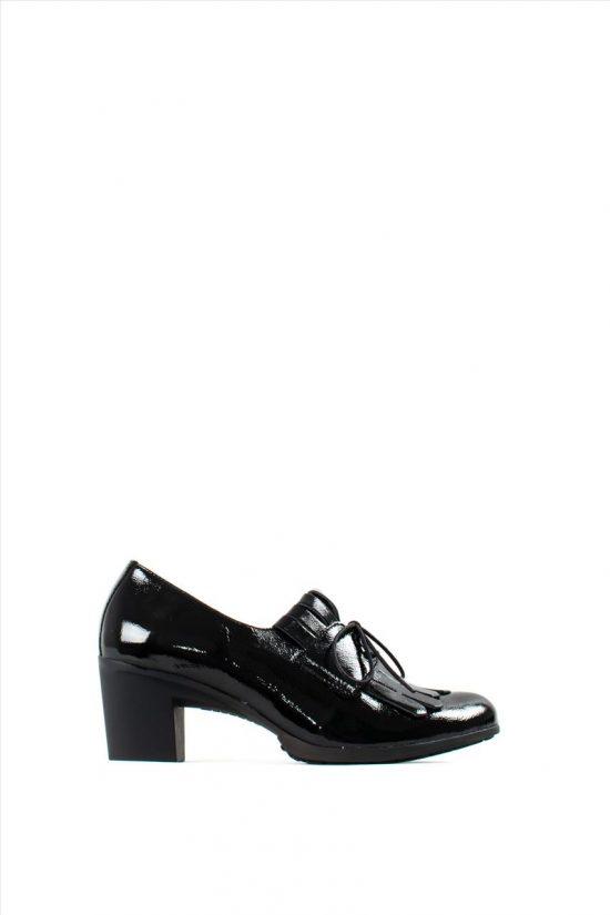Γυναικεία Δερμάτινα Ανατομικά Παπούτσια WONDERS G-4740 BLACK