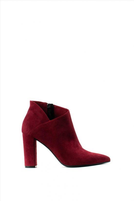 Γυναικεία Suede Ankle Boots MOURTZI 85/854K07 RED