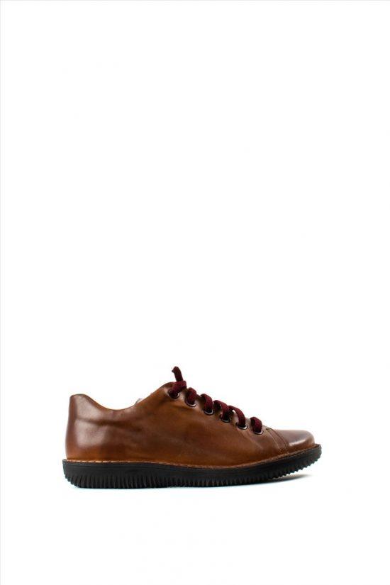 Γυναικεία Δερμάτινα Casual Shoes CHACAL 4800 TABA