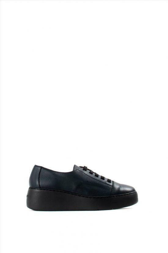 Γυναικεία Δερμάτινα Casual Shoes WONDERS A-8338 BLUE