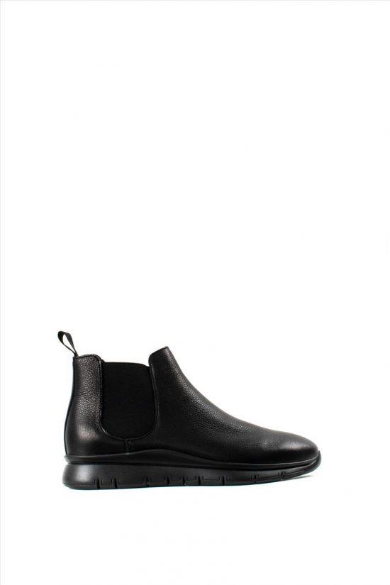 Γυναικεία Δερμάτινα Ankle Boots FRAU 4226 BLACK