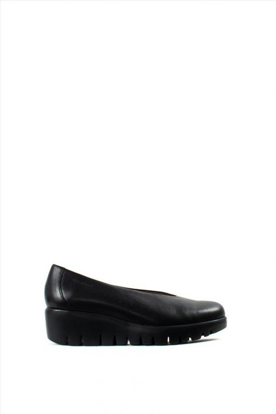 Γυναικεία Δερμάτινα Ανατομικά Παπούτσια WONDERS C-33141 BLACK