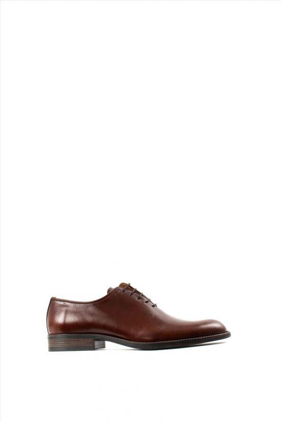 Ανδρικά Δερμάτινα Δετά Παπούτσια ZAKRO COLLECTION 3043 COGNAC