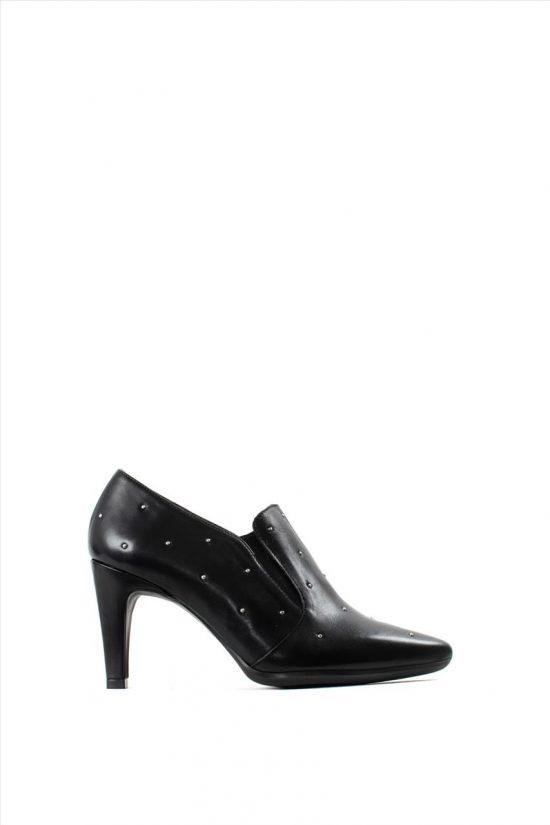 Γυναικεία Δερμάτινα Ankle Boots WONDERS M-4203 BLACK
