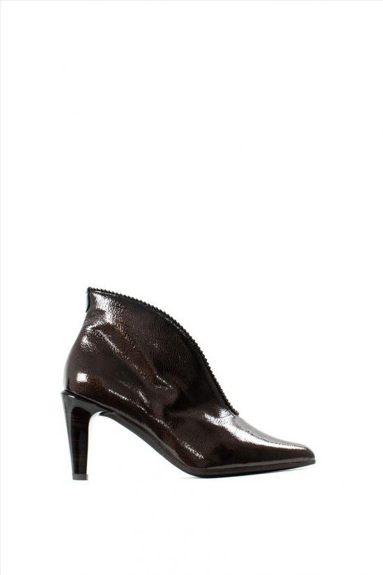 Γυναικεία Ankle Boots Λουστρίνι HISPANITAS HI99369 RIO I9 MOKA