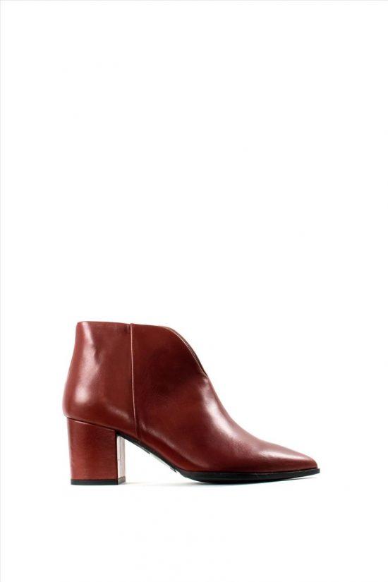 Γυναικεία Δερμάτινα Ankle Boots PAOLA FERRI D4676 VITELLO TAMP HENNA