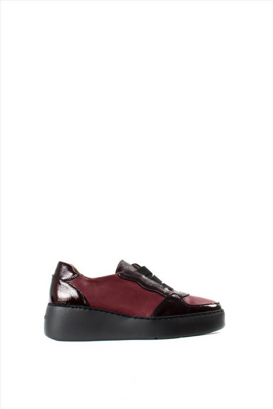 Γυναικεία Δερμάτινα Casual Shoes WONDERS A-8333 BORDEAUX