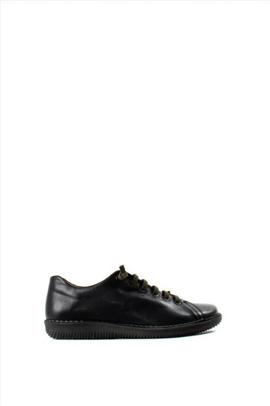 Γυναικεία Δερμάτινα Casual Shoes CHACAL 4800 BLACK