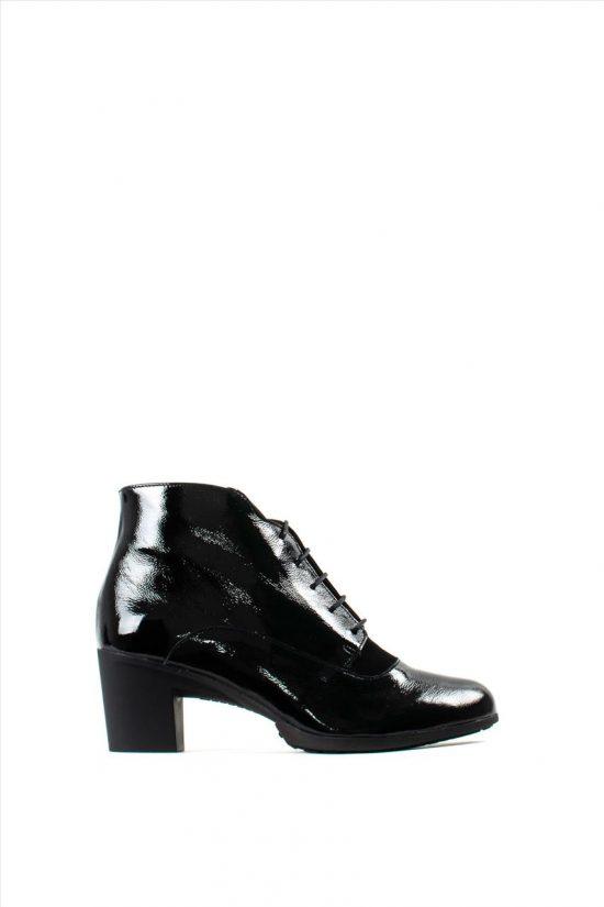 Γυναικεία Δερμάτινα Ankle Boots WONDERS G-4745 BLACK