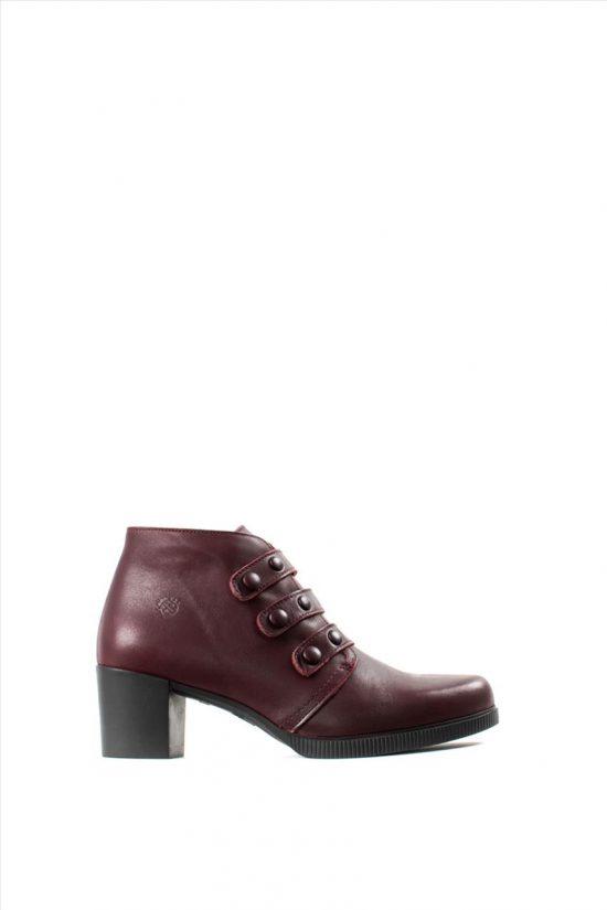 Γυναικεία Δερμάτινα Ankle Boots YOKONO JANE 003 CIERVO BURDEOS