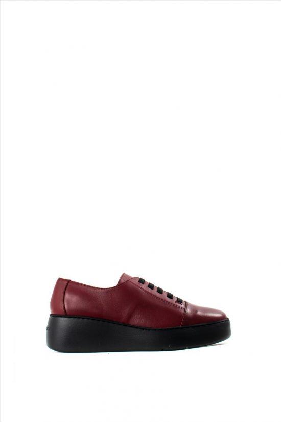Γυναικεία Δερμάτινα Casual Shoes WONDERS A-8338 BORDEAUX