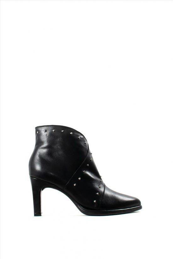 Γυναικεία Δερμάτινα Ankle Boots WONDERS M-4306 BLACK