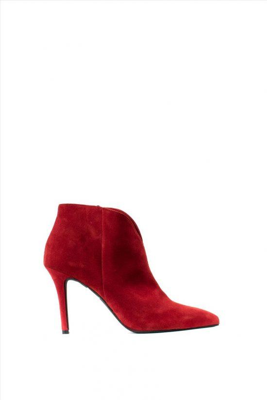 Γυναικεία Suede Ankle Boots MOURTZI 85/85407 RED