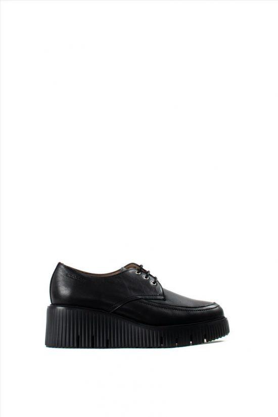 Γυναικεία Δερμάτινα Casual Shoes WONDERS E-6204 BLACK