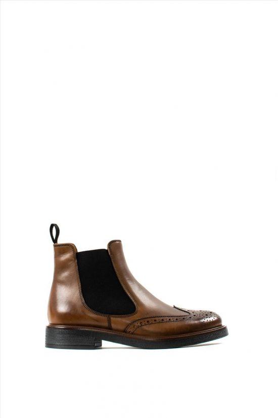 Γυναικεία Δερμάτινα Ankle Boots FRAU 9626 TABA