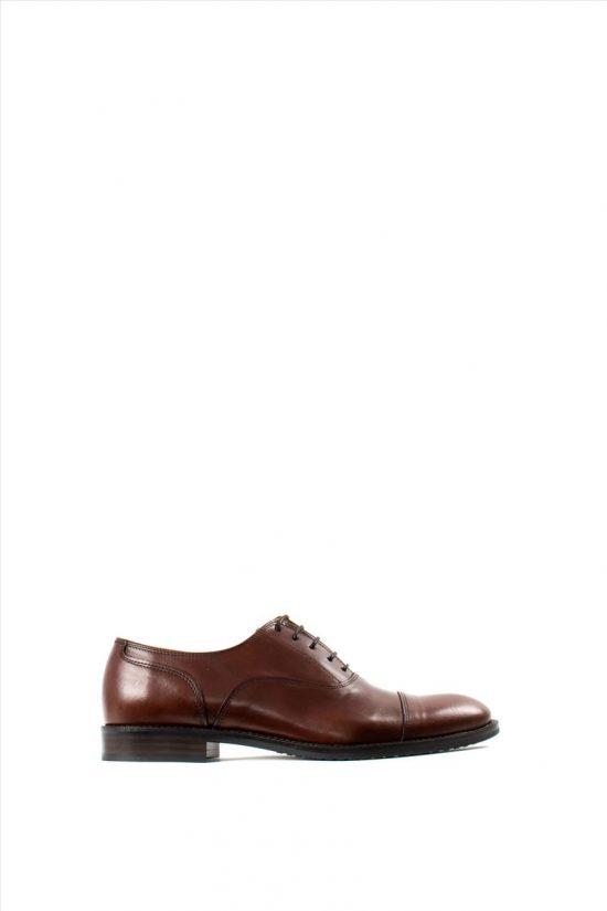 Ανδρικά Δερμάτινα Δετά Παπούτσια ZAKRO COLLECTION 1396 COGNAC