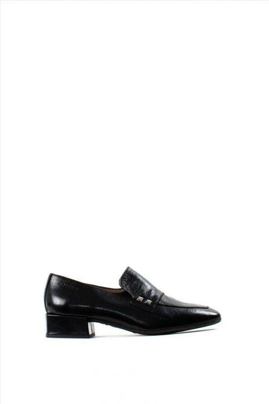 Γυναικεία Δερμάτινα Loafers WONDERS C-5805 BLACK
