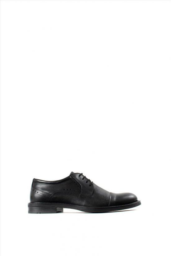 Ανδρικά Δερμάτινα Δετά Παπούτσια ZAKRO COLLECTION 2030 BLACK