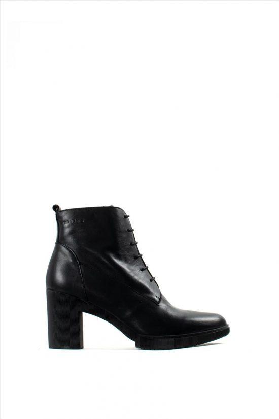 Γυναικεία Δερμάτινα Μποτάκια WONDERS M-3721 BLACK