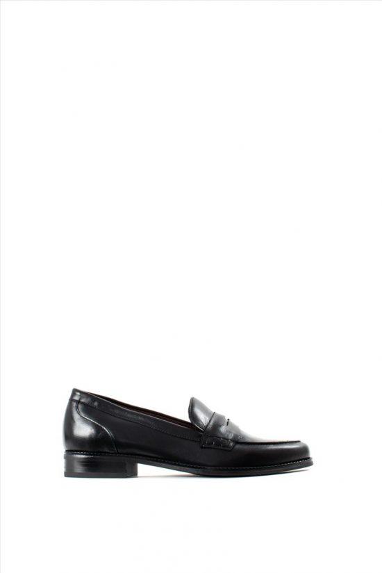 Γυναικεία Δερμάτινα Loafers BRYAN 22501 BLACK