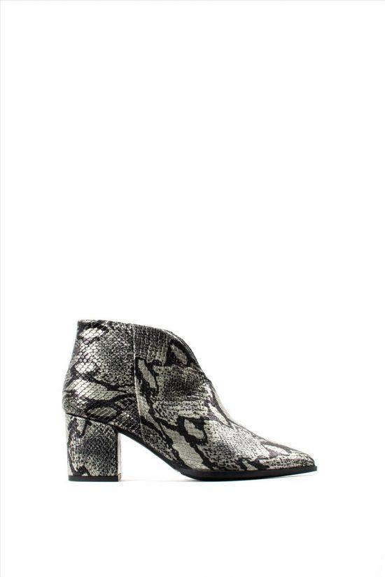 Γυναικεία Δερμάτινα Ankle Boots PAOLA FERRI D4676 PITONE LAMINATO PINE