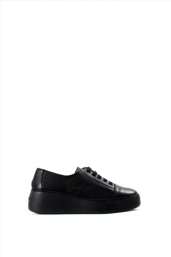 Γυναικεία Δερμάτινα Casual Shoes WONDERS A-8338 BLACK