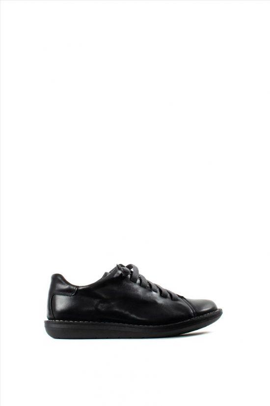 Ανδρικά Δερμάτινα Casual Shoes CHACAL C1001 BLACK