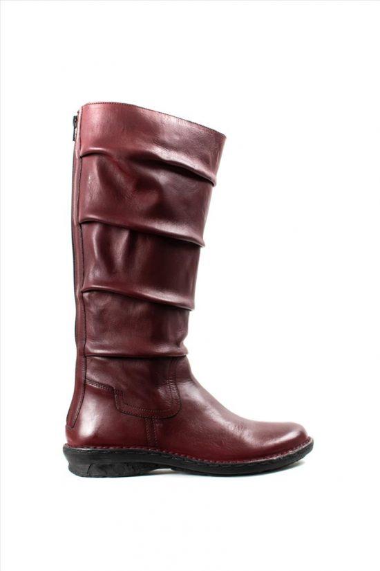 Γυναικείες Δερμάτινες Μπότες KHRIO 1-684-19507-24-2 BORDEAUX