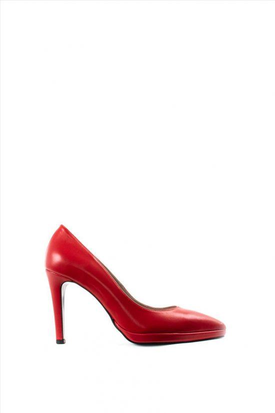Γυναικείες Δερμάτινες Γόβες ELLEN 16700 RED