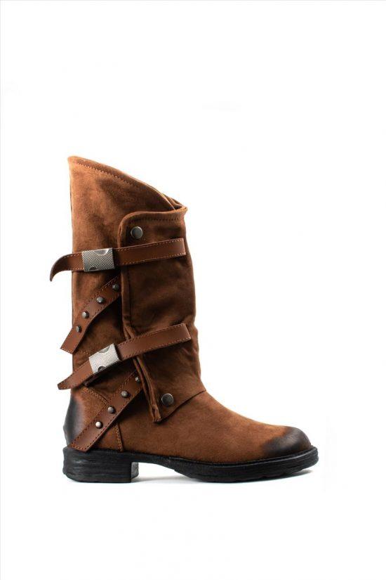 Γυναικείες Μπότες FRANCESCO MILANO T38-4T TABA