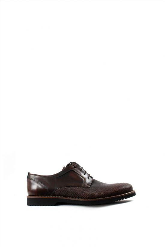 Ανδρικά Δερμάτινα Δετά Παπούτσια LA PELLE 1012/157 BROWN
