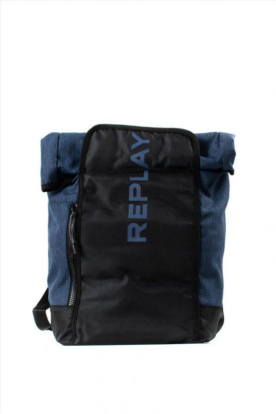 Τσάντα Backpack REPLAY FM3405.000.A0388 BLUE