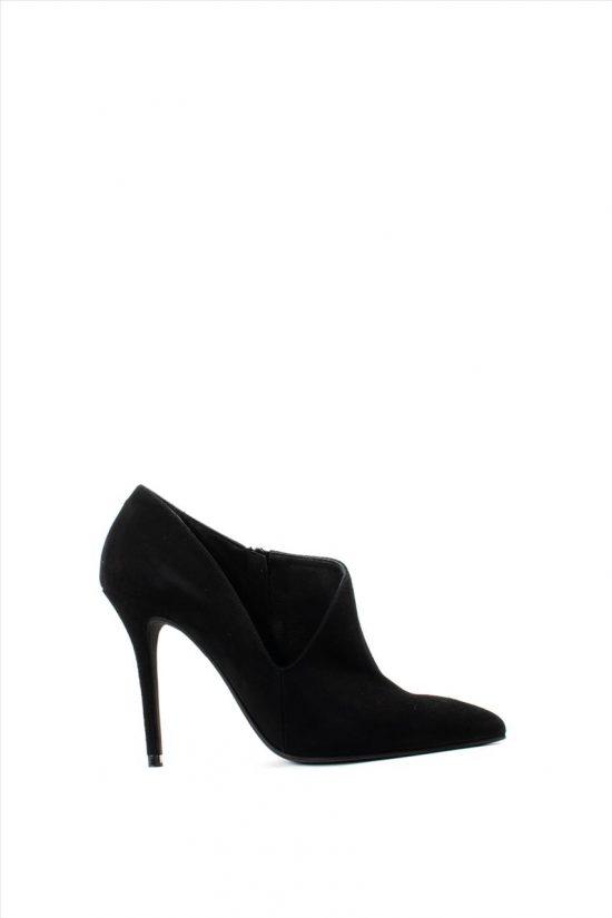 Γυναικεία Suede Ankle Boots MOURTZI 10/1004M10 BLACK