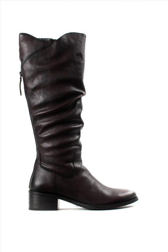 Γυναικείες Δερμάτινες Μπότες HOSIS W19-CLU5760 BORDEAUX