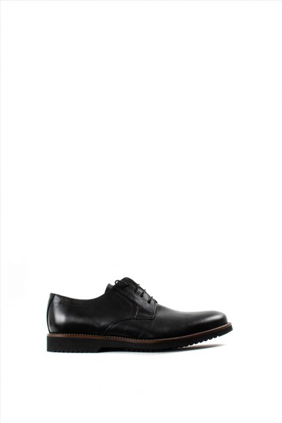 Ανδρικά Δερμάτινα Δετά Παπούτσια LA PELLE 1011/157 BLACK