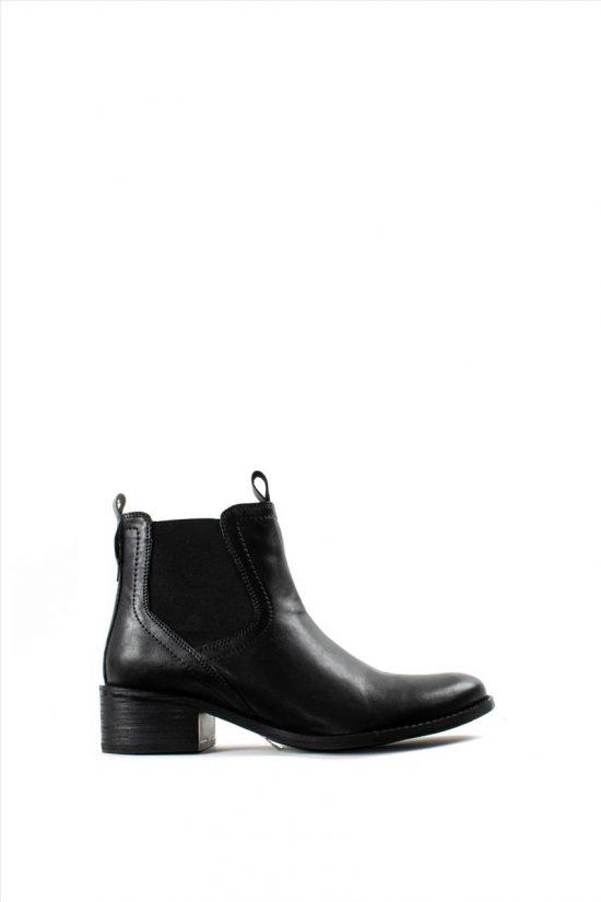 Γυναικεία Δερμάτινα Μποτάκια HOSIS W19-CLU5764 BLACK