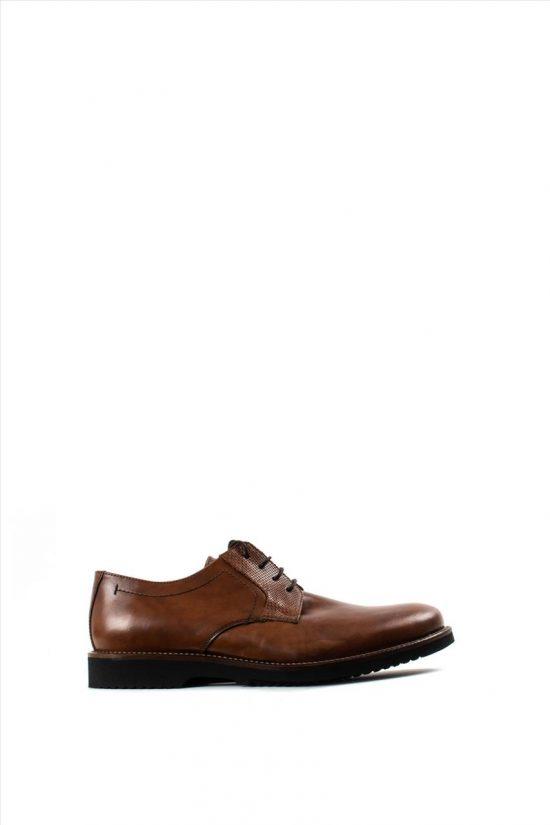 Ανδρικά Δερμάτινα Δετά Παπούτσια LA PELLE 1011/157 TABA