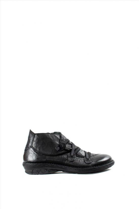 Γυναικεία Δερμάτινα Μποτάκια KHRIO 1-684-19501-23 BLACK