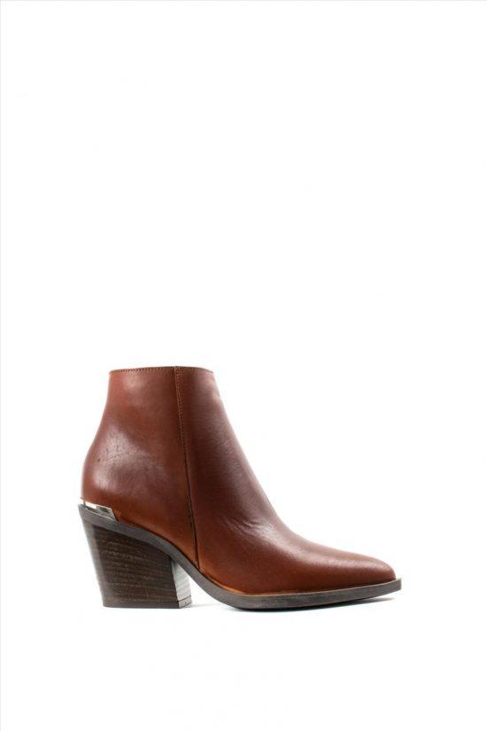 Γυναικεία Δερμάτινα Ankle Boots SANTE 19-529 TABA