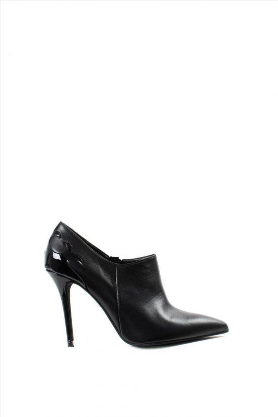 Γυναικεία Δερμάτινα Ankle Boots MOURTZI 10/104M09 BLACK