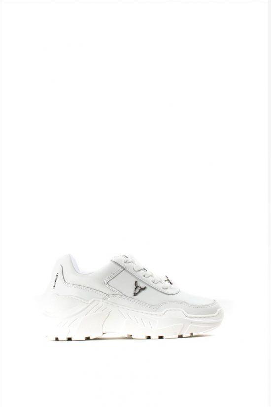 Γυναικεία Δερμάτινα Sneakers WINDSOR SMITH CARTE 0112000339 WHITE