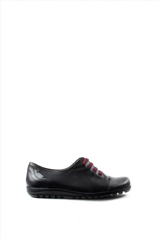 Γυναικεία Δερμάτινα Casual Shoes FLUCHOS EVEL 8876 BLACK