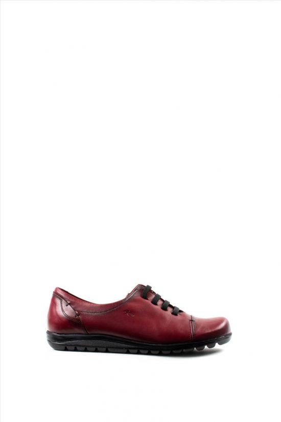 Γυναικεία Δερμάτινα Casual Shoes FLUCHOS EVEL 8876 CHERRY